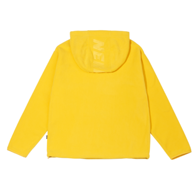 Fleece Pullover Hoodie Yellow